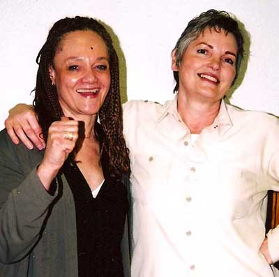 Marilyn Buck with Kathleen Cleaver circa 2000