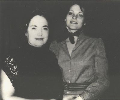 Lolita Lebron with Marily Buck inside Alderson prison