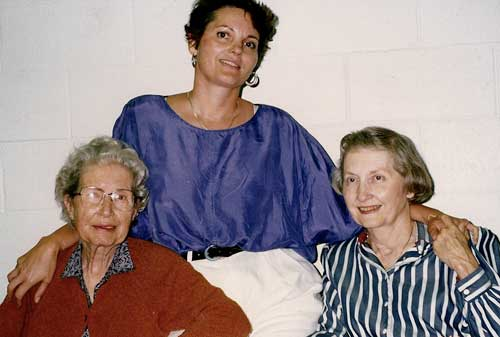 Marilyn Buck with mother and grandmother